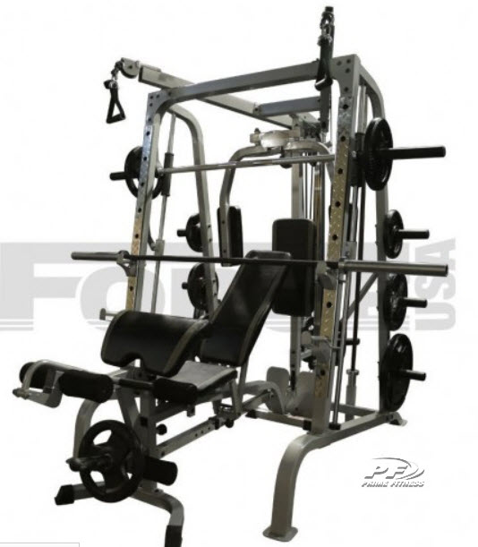 FORCE USA F-SMC SMITH MACHINE SYSTEM PACKAGE with cable cross over and FID bench