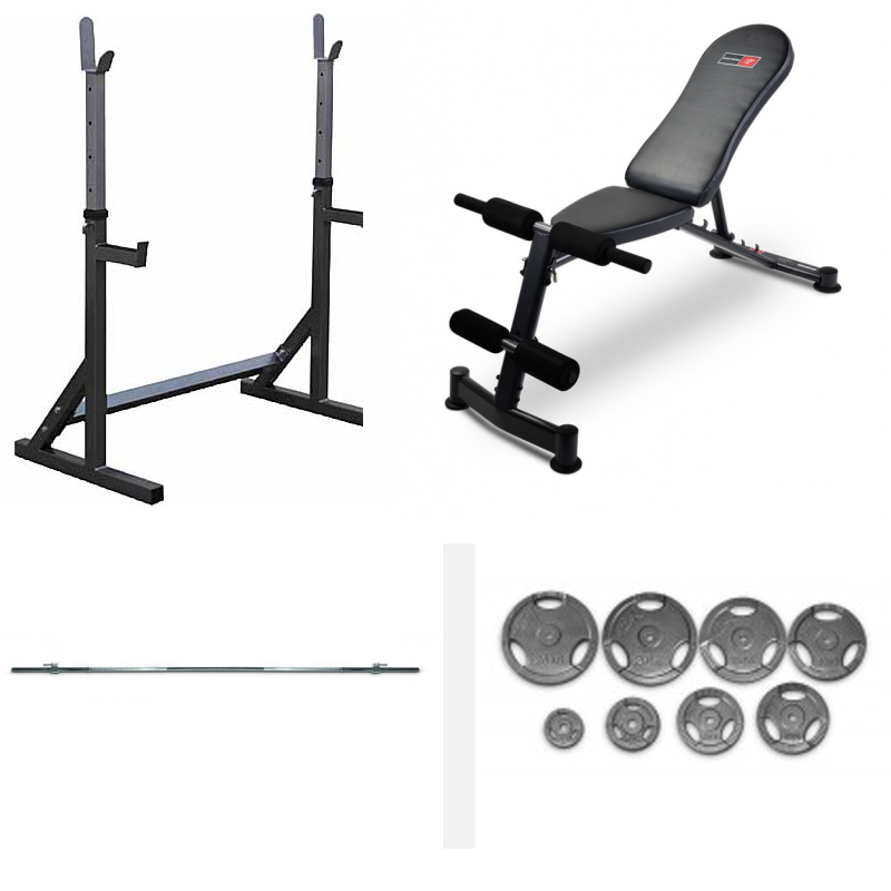 BODYWORX L314R RACK, BENCH and WEIGHTS PACKAGE
