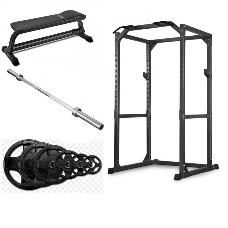 BODYWORX LU475 POWER CAGE and WEIGHTS PACKAGE