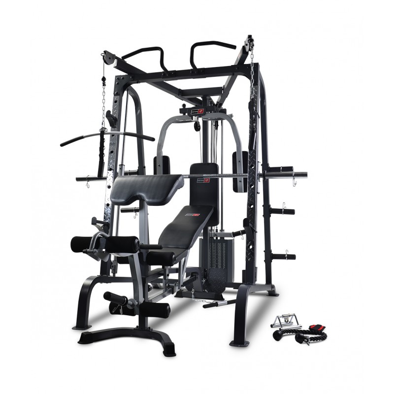 NEW BODYWORX LX9010SM COMBO SMITH MACHINE, CABLE CROSSOVER, POWER RACK AND FID BENCH