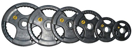10kg Rubber coated Olympic Weight Plate